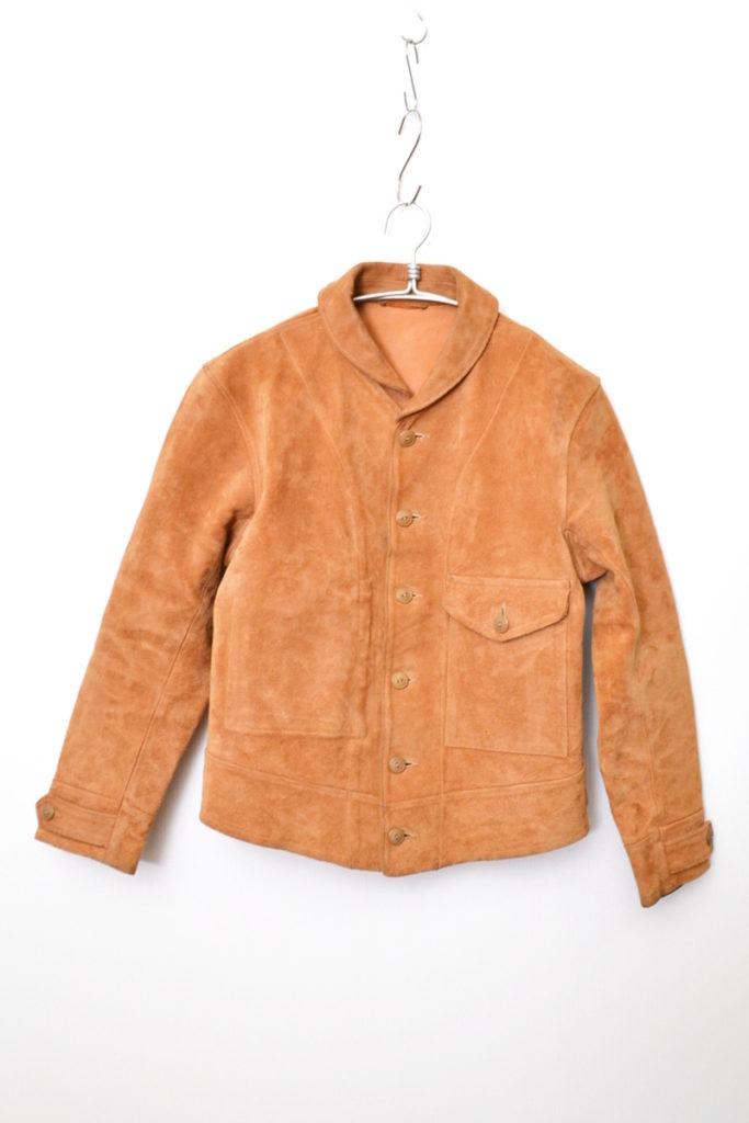 ONE POCKET SPORTS JACKET 1930s A-1 TYPE スウェードレザー スポーツジャケット