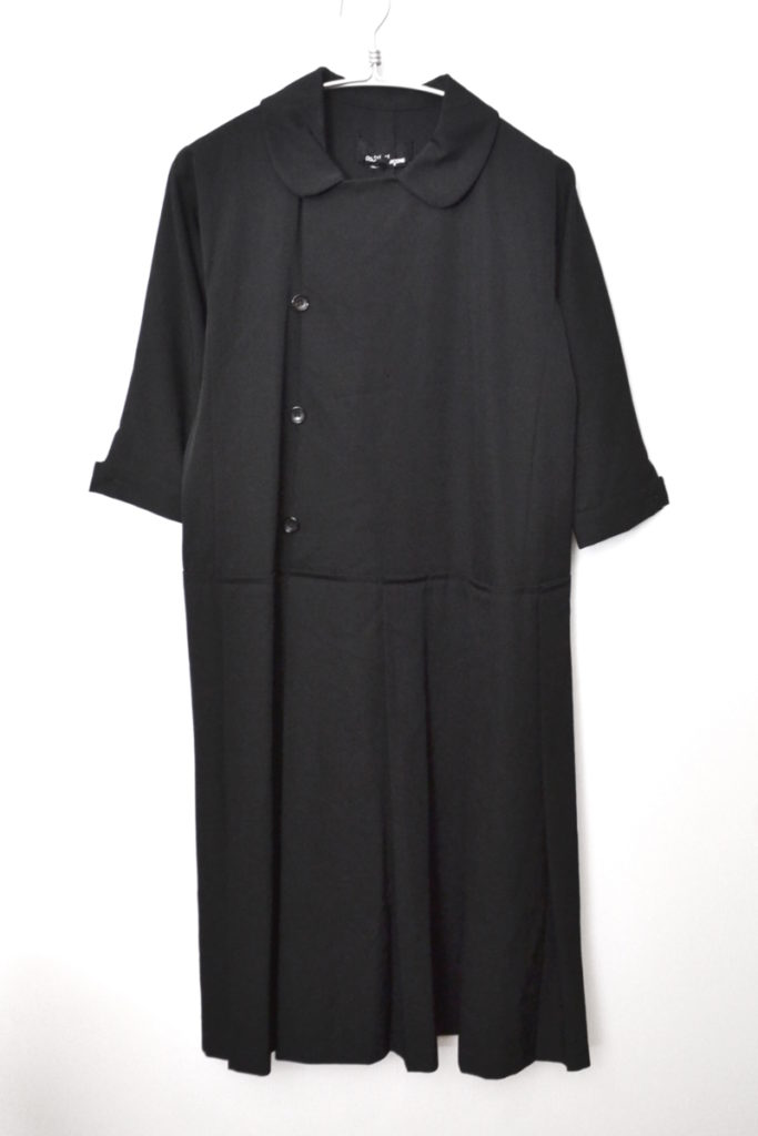 AD2001 01AW/ラウンドカラー 5分袖 切替 フレア ワンピース
