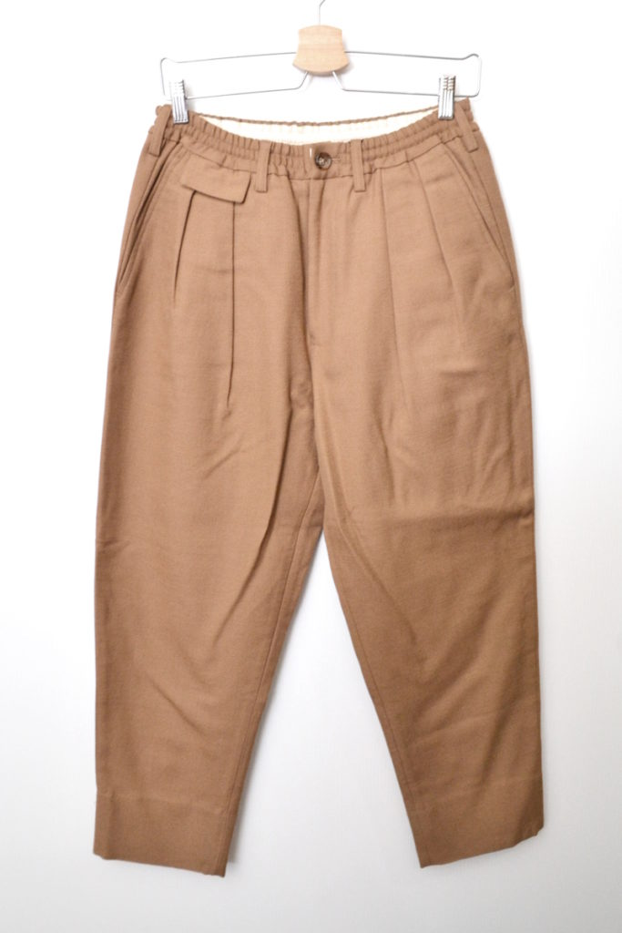 2017AW/peruvian wook serge trousers 2タック ウールサージ イージーパンツ