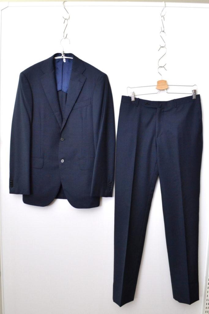 BEAMS F/ウール 3B 段返り 織柄 スーツ ジャケット パンツ