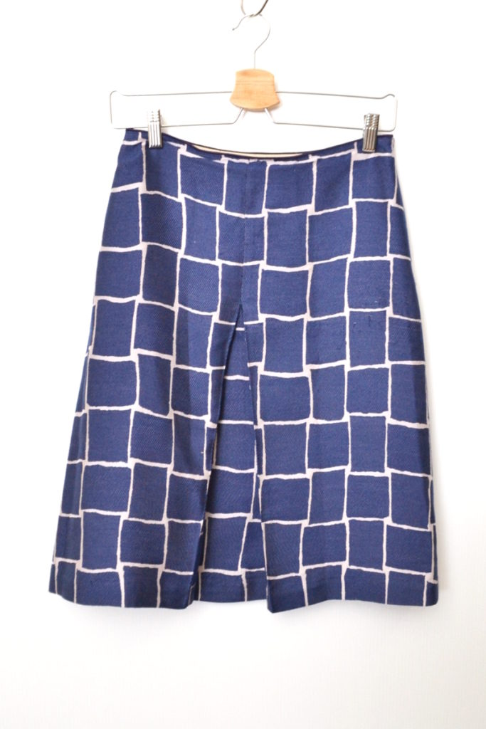 2007SS/basket シルク混 台形 スカート