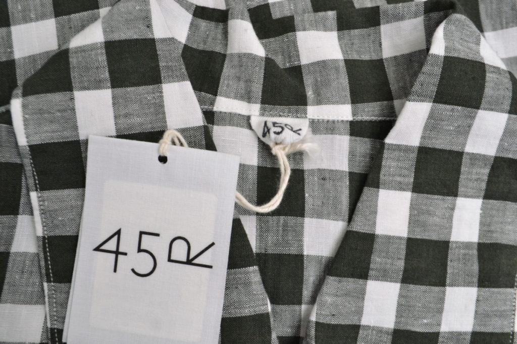 リネンギンガムチェックのプルオーバードレス ワンピースの買取実績画像