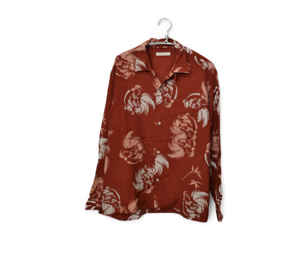 2017SS/OPEN COLLAR SHIRTS レーヨン キュプラ シルク オープンカラーシャツ