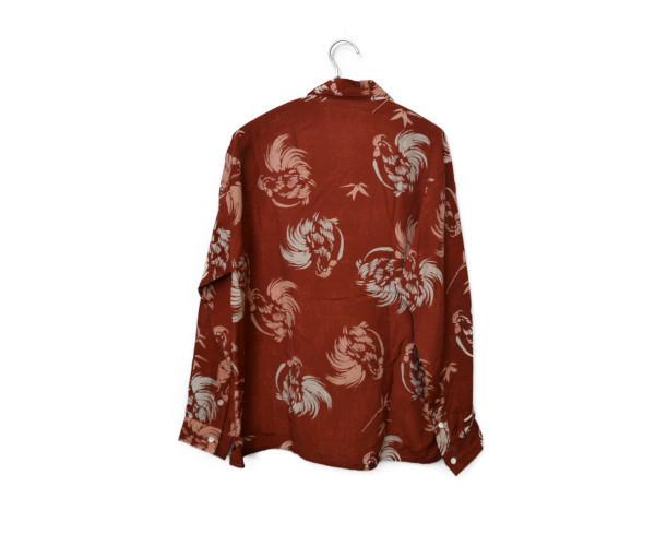 2017SS/OPEN COLLAR SHIRTS レーヨン キュプラ シルク オープンカラーシャツの買取実績画像