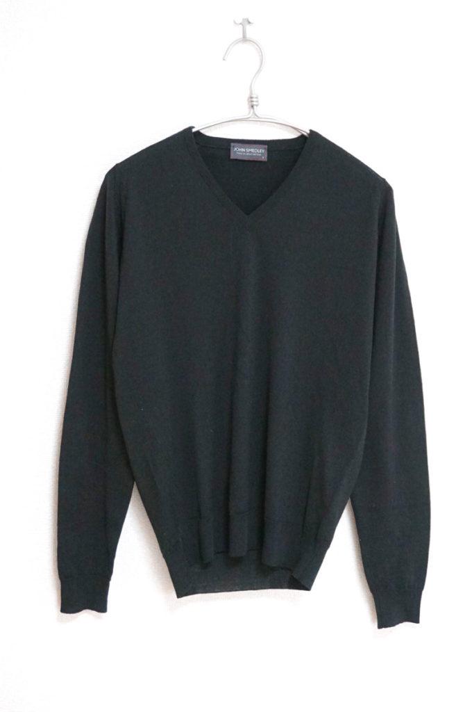 MERINO WOOL EXTRAFINE メリノウール Vネックニット セーター
