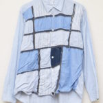 異素材パッチワーク 長袖シャツ