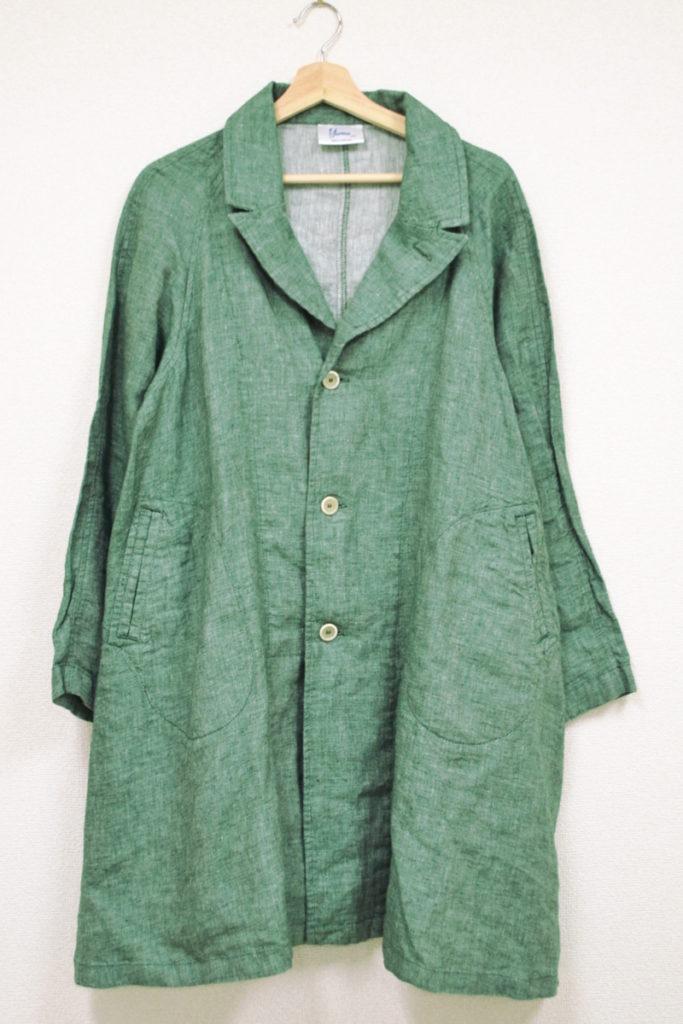 Raglan Linen coat ラグランスリーブ リネンシャンブレーコート
