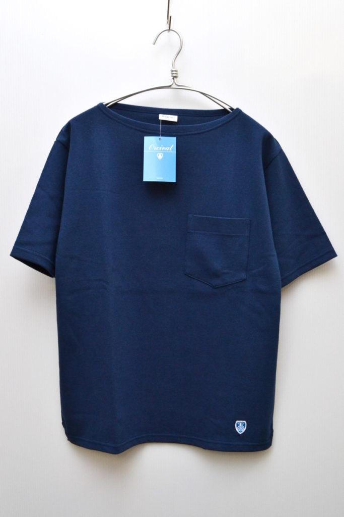 コットンロード ポケットTシャツ 無地バスクシャツ