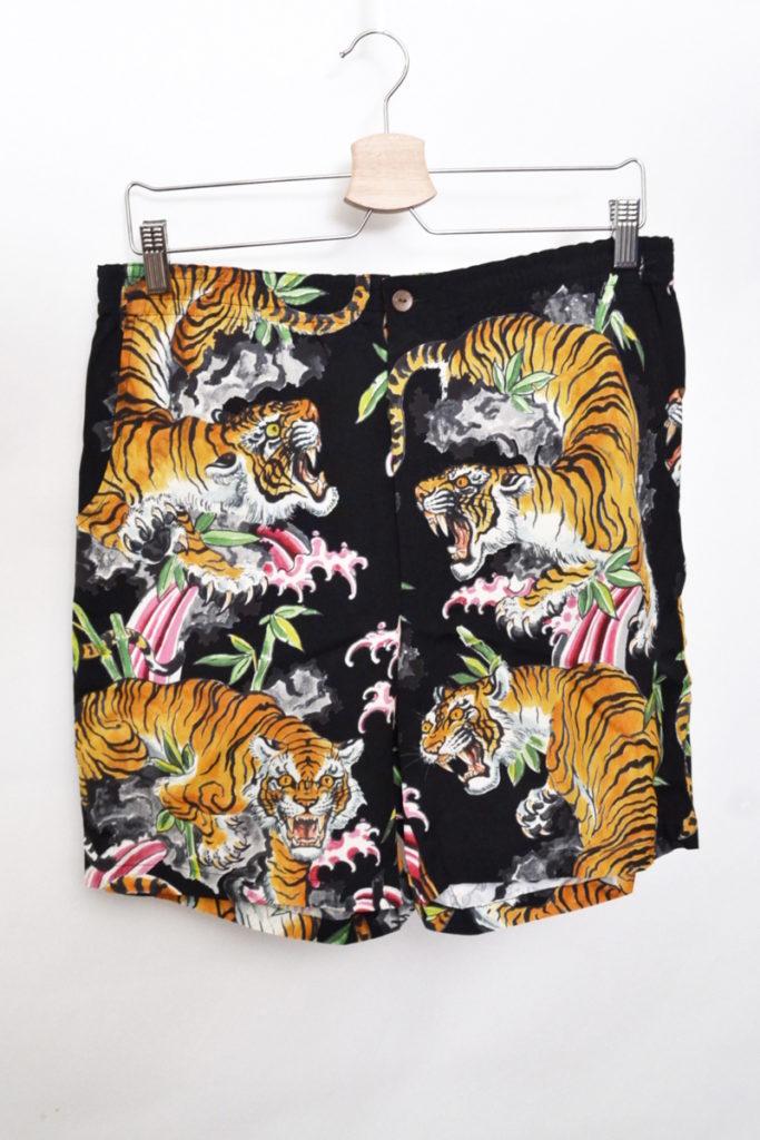 TIM LEHI / HAWAIIAN SHORTS タイガー 虎 アロハショーツ ショートパンツ
