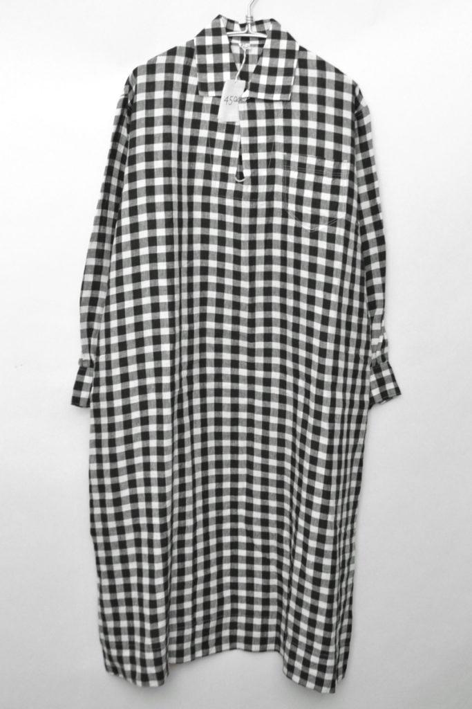 リネンギンガムチェックのプルオーバードレス ワンピース
