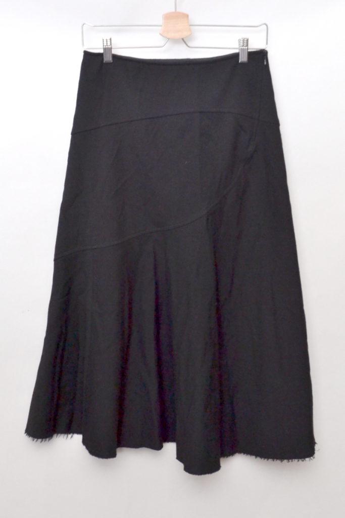 AD2006 06AW/裾カットオフ ウールロングスカート