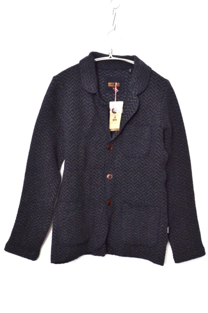Sweater Walsh Blazer Charcoal Wool ニットブレザー