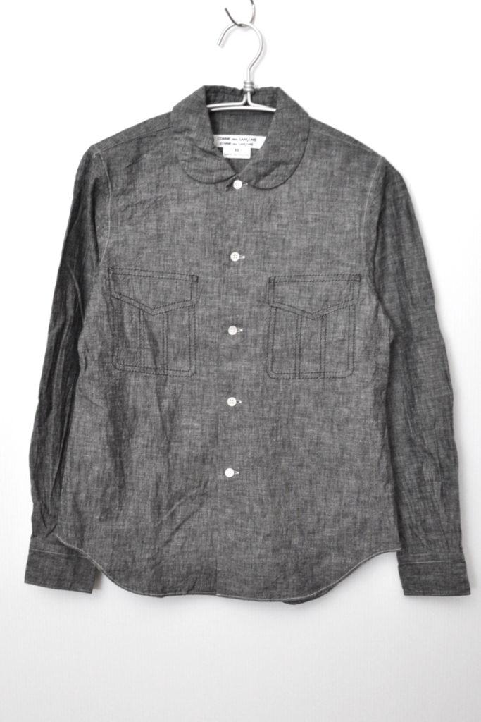 AD2014 15SS/丸襟 シャンブレー フェイクポケットシャツの買取実績画像