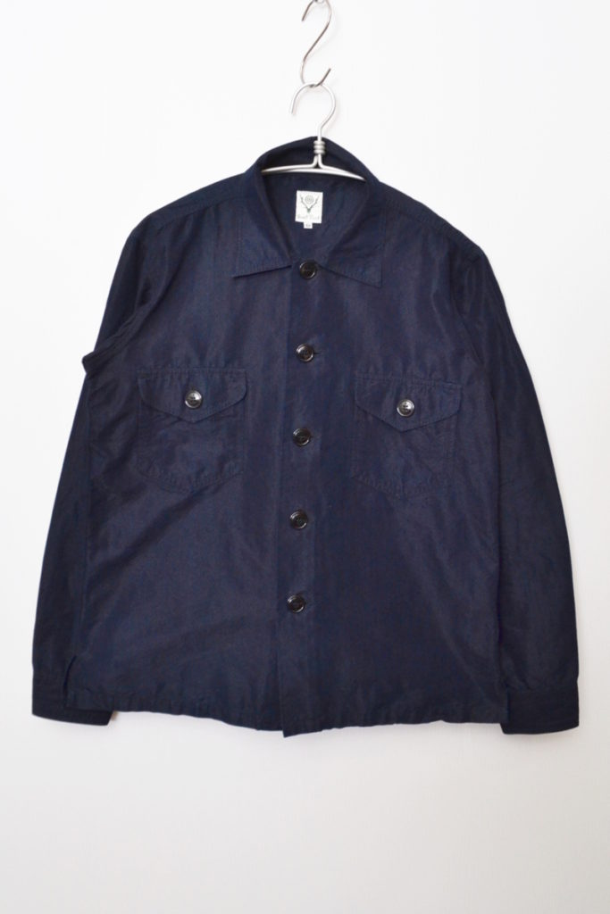 インディゴ染め ワークシャツジャケット