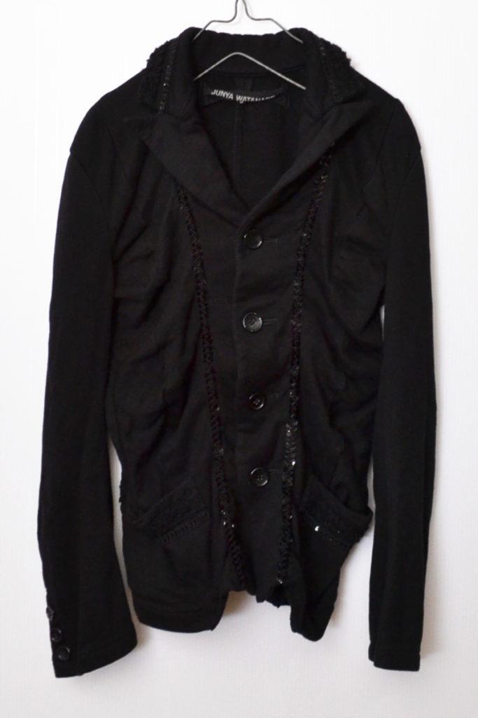 AD2006 07SS/コットン縮絨 スパンコール ジャケット