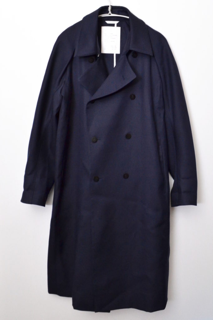 OVERCOAT WITH TWO WAY COLLAR ウール トレンチコート
