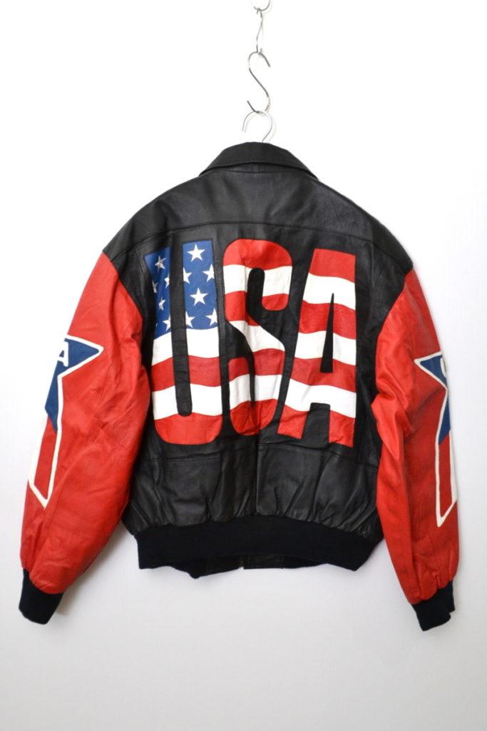 USA レザー ジャケット スタジャンの買取実績画像