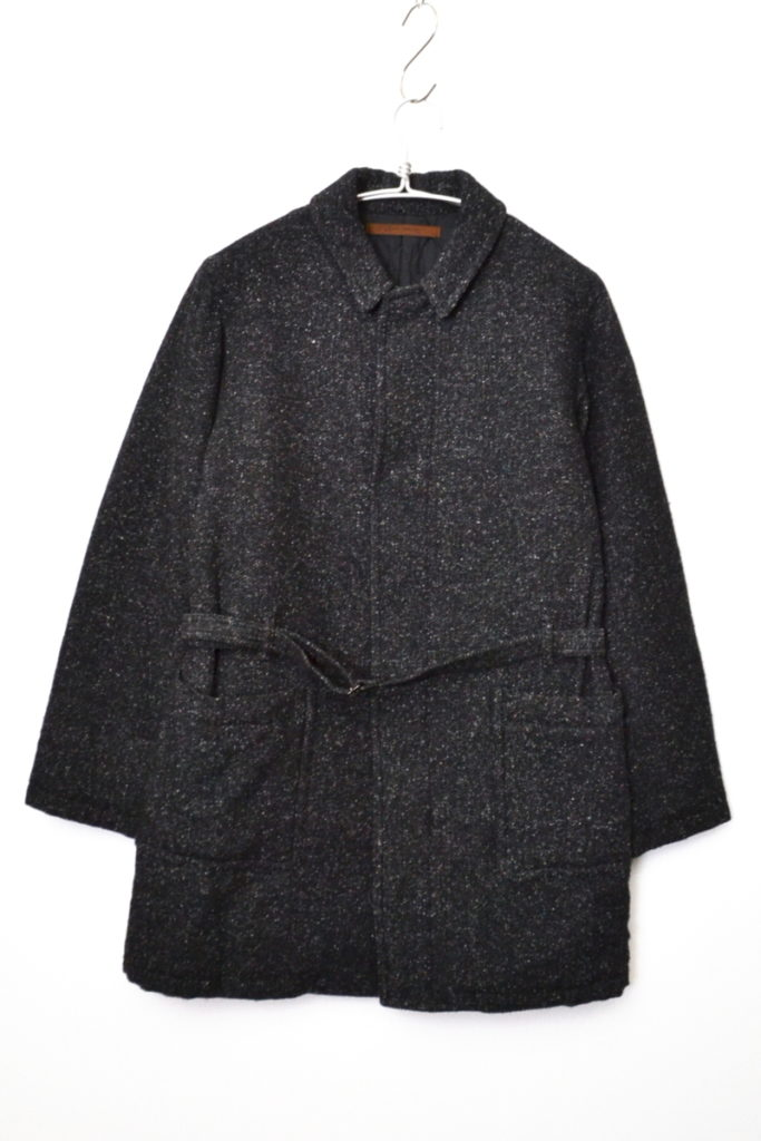 2014AW/ soft fancy tweed extra thinsulate quilting coat ツイード コート