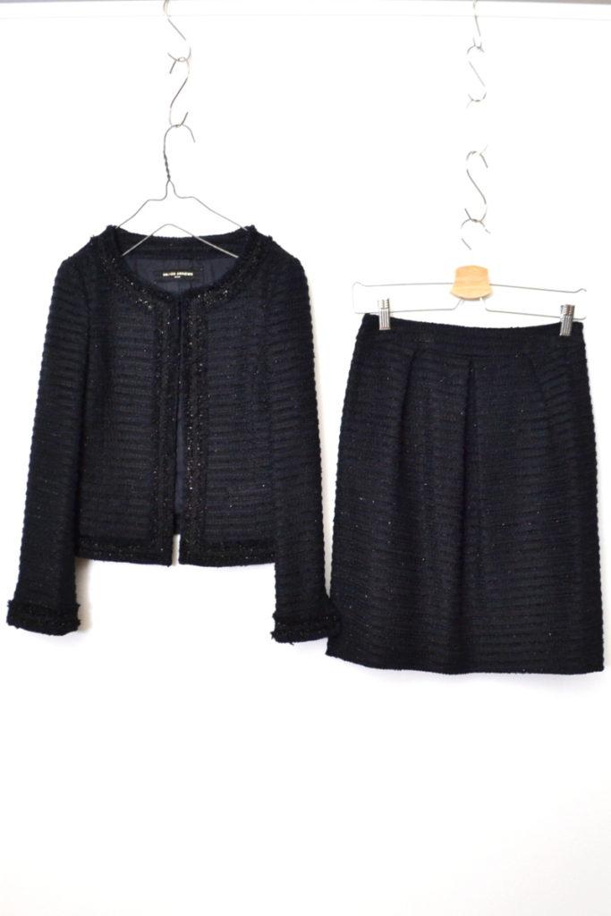 ラメ ツイード セットアップ ジャケット スカート