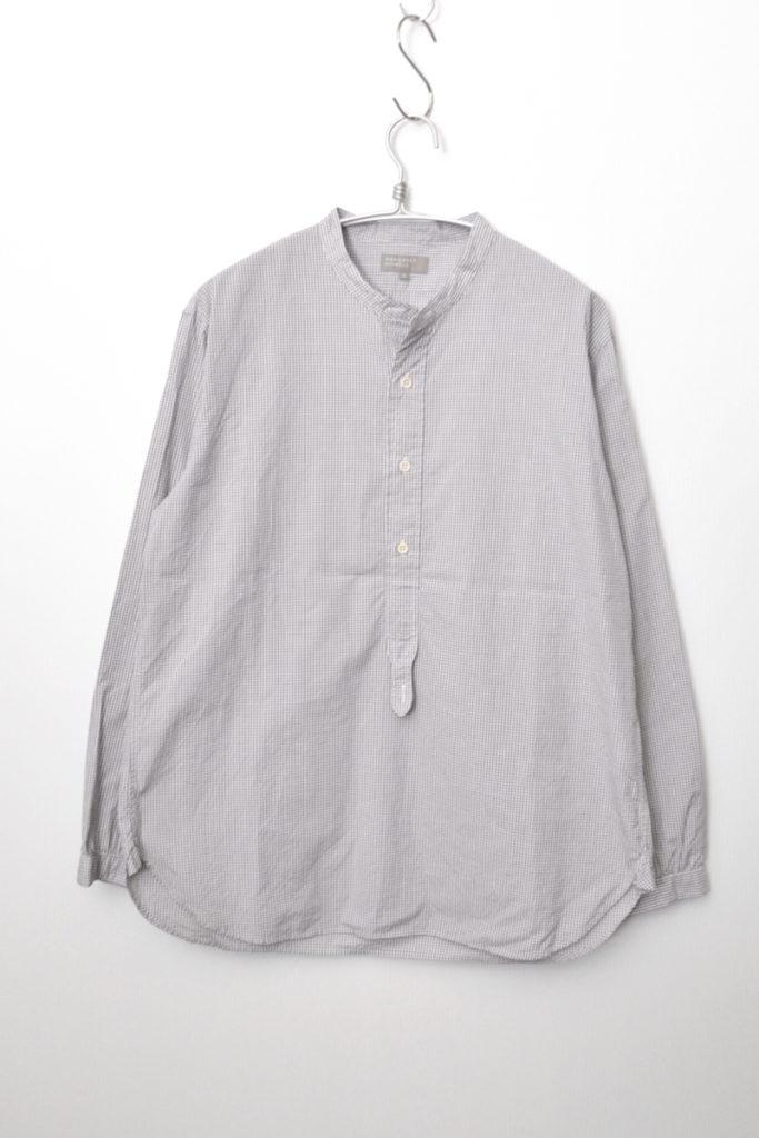 2017SS/コットン チェック スタンドカラー 長袖 プルオーバーシャツ