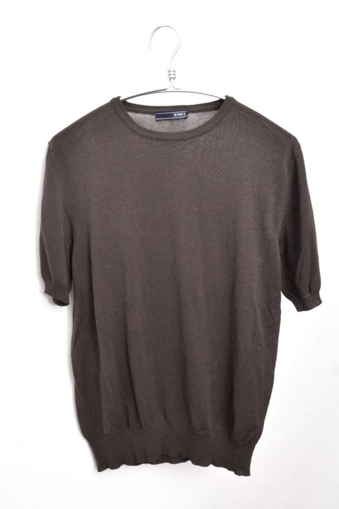 BEAMS F/半袖コットンニット Tシャツ