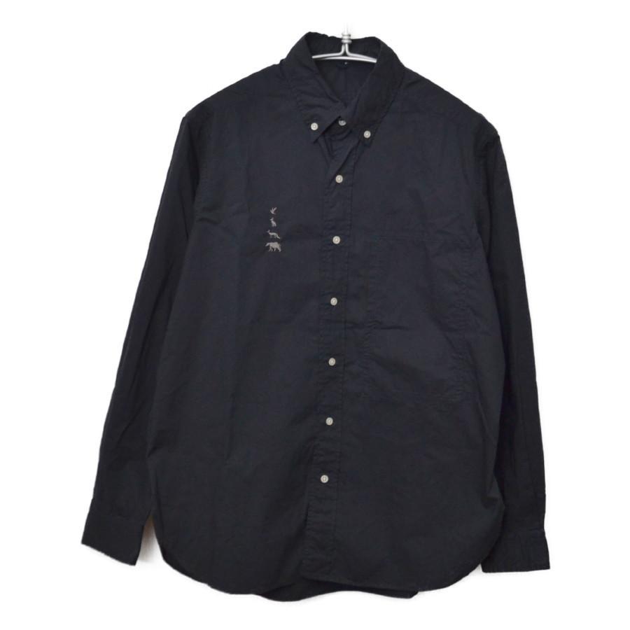 2015AW/ MTR-1928 ポプリン 動物 刺繍 B.D Shirt 長袖 シャツ