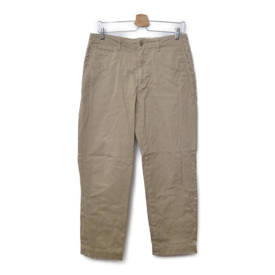 WORKADAY/41 Khaki w/ Zip Front チノ トラウザー パンツ