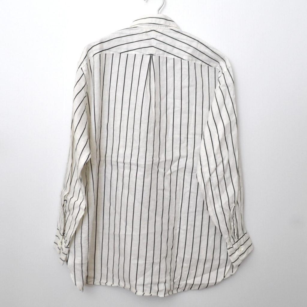 2019SS/ COMFORT FIT SHIRTS ORGANIC LINEN PRINTED STRIPE リネン ストライプ シャツの買取実績画像