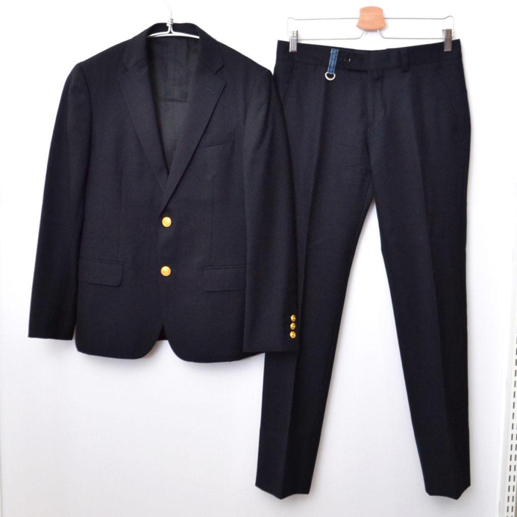 セットアップ スーツ 金ボタン ブレザー ジャケット スラックス