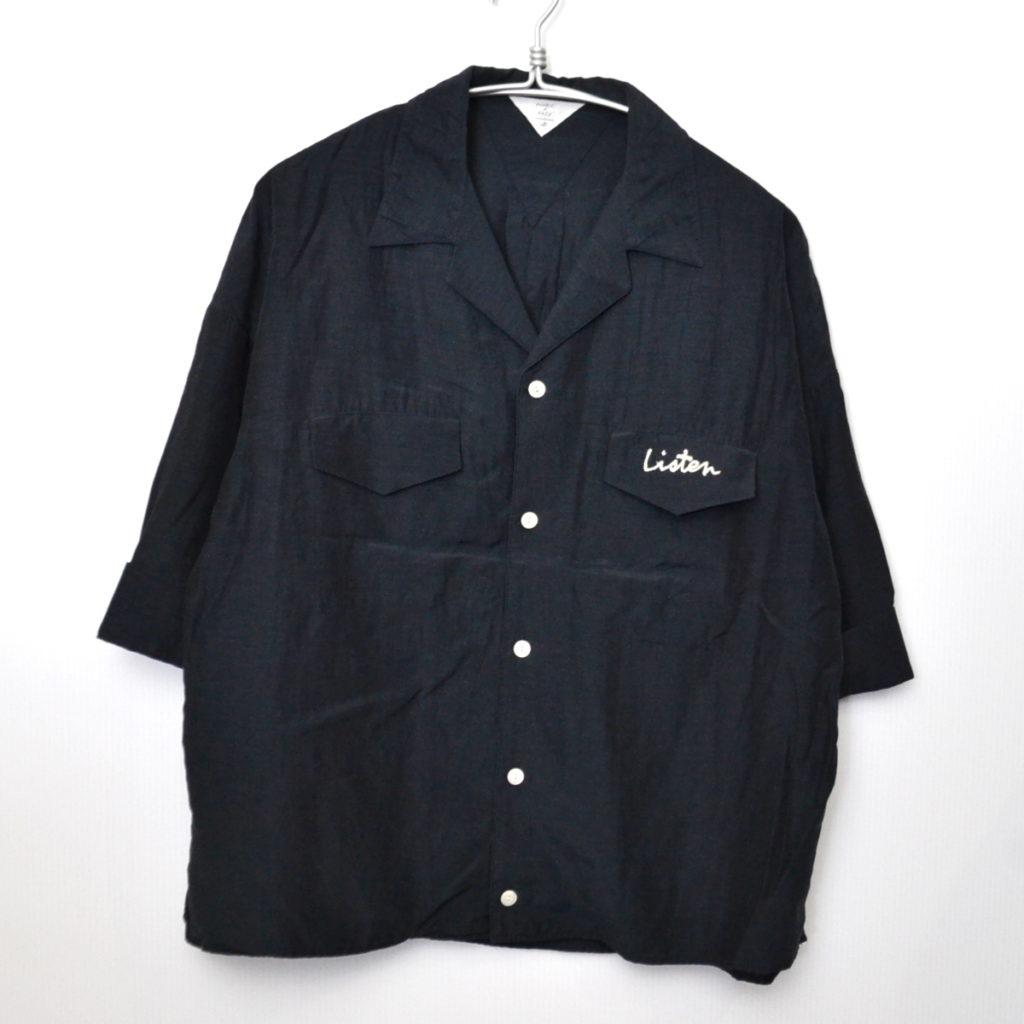 レーヨン 刺繍 オープンカラー シャツ