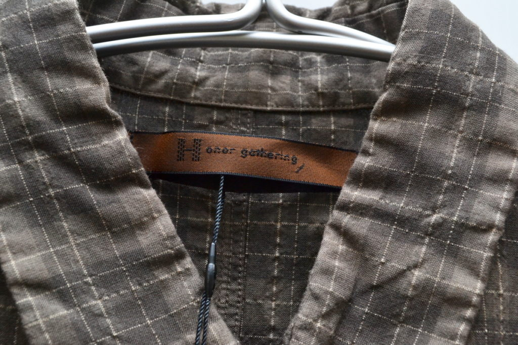 2014SS/original seer sucker check over dye finish シアサッカー シャツの買取実績画像