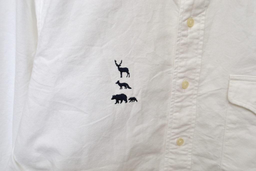 2015AW/ MTR-1924 動物 刺繍 B.D Shirt オックス 長袖 シャツの買取実績画像