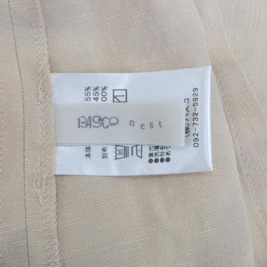 リネン レーヨン 裾フレア ジレ ベストの買取実績画像