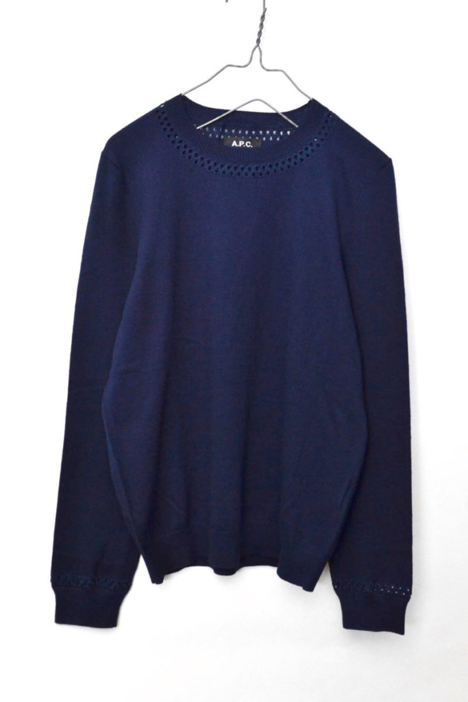 コットンウール カットワーク刺繍 クルーネックニット セーターの買取実績画像