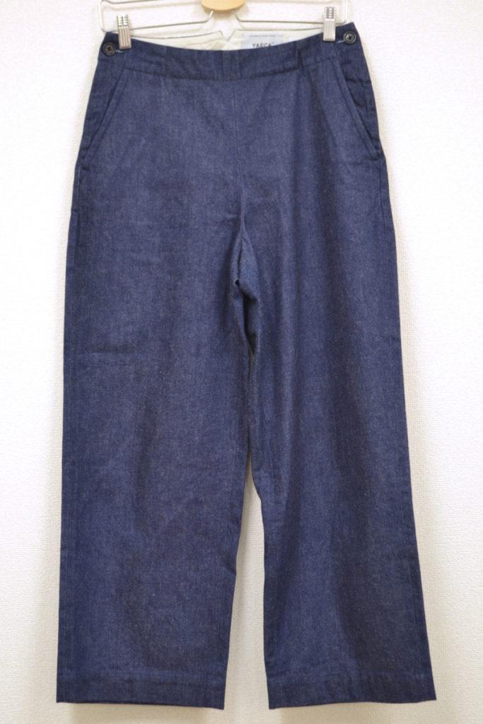 2015SS/marine pants(denim) サイドボタン マリンパンツ ワイド デニム