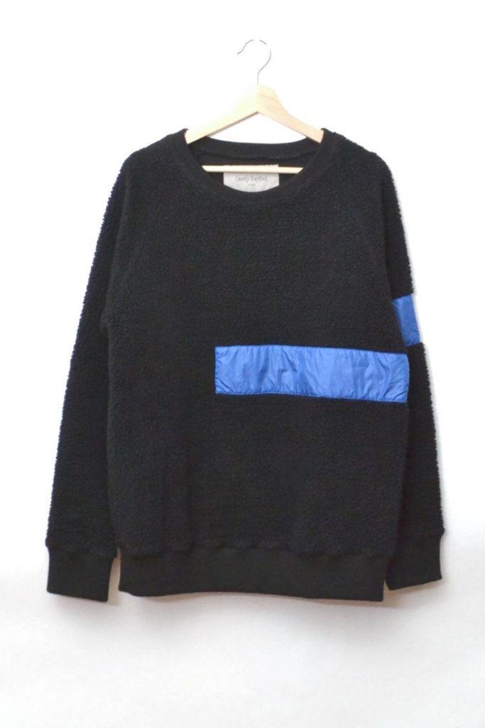 RAMSEY 19c/ ナイロンテープ切替 ボアニット クルーネックセーター