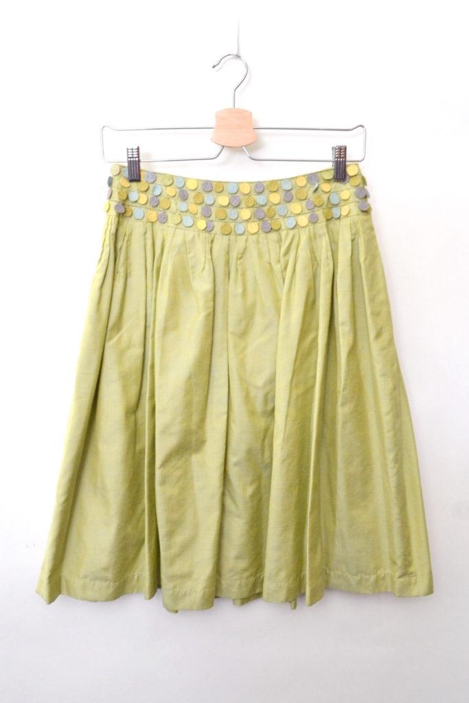 lamplit シルク ギャザースカート