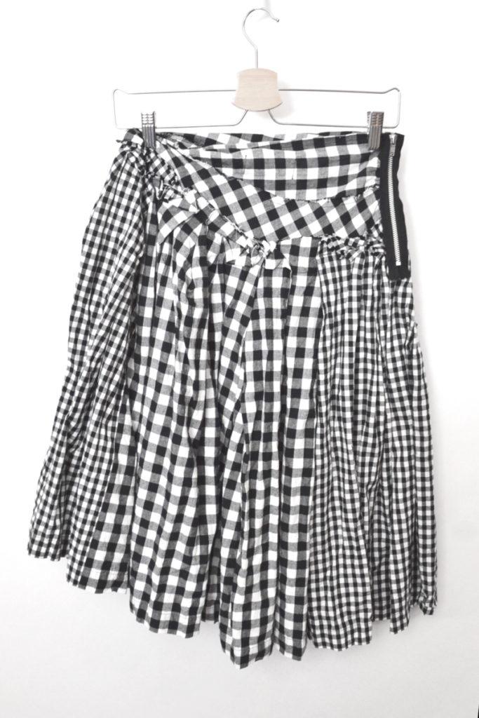 AD2013 14SS/大小ギンガムチェック切替 スカートの買取実績画像