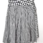 AD2013 14SS/大小ギンガムチェック切替 スカート