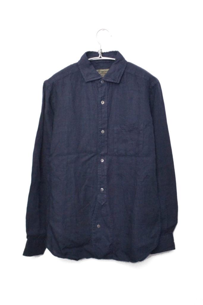 BRITISH OFFICER'S SHIRT LINEN ブリティッシュオフィサーズシャツ リネン