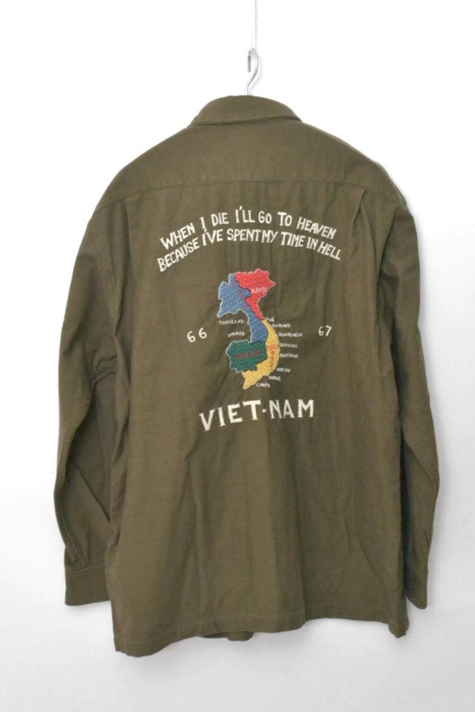 ACKSATIN SHIRT JACKET 'VIET-NAM MAP バックサテン シャツジャケットの買取実績画像