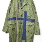 sacai man ◆ 2018SS/ 格子柄 テープ装飾 ロングコート