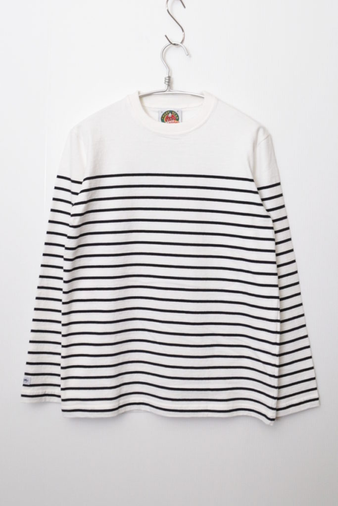 8oz パネルボーダーカットソー バスクシャツ