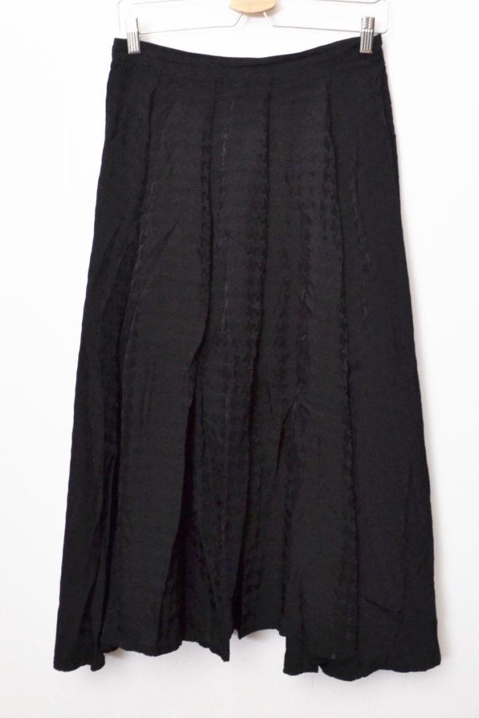 AD2006 07SS/レーヨン 総柄 バックリボン ボリューム スカート