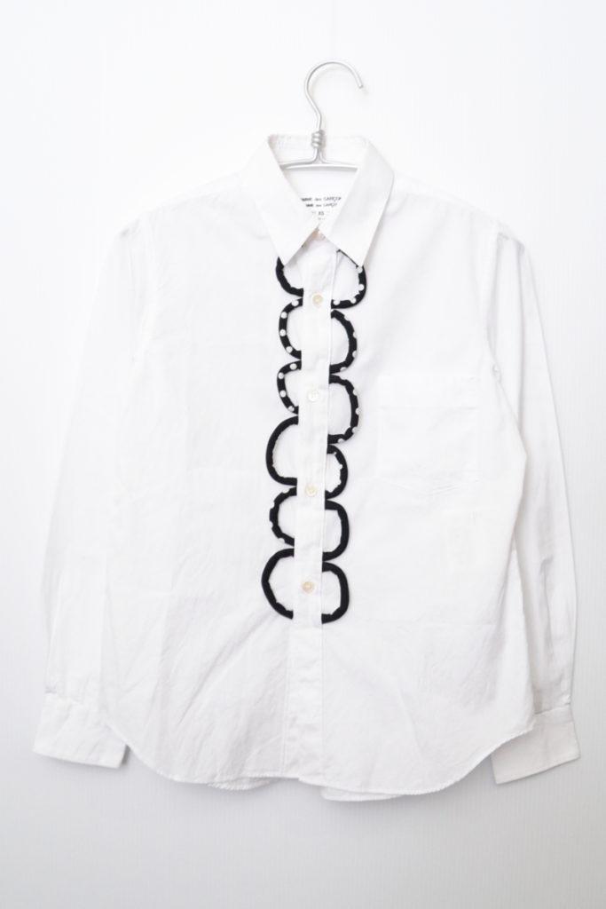 AD2016 16AW/ドット プリント 装飾 シャツ