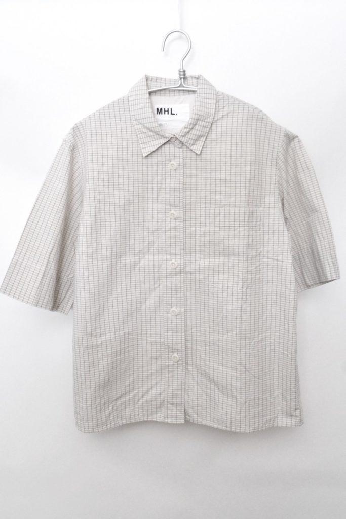 2019SS/GRAPH CHECK COTTON チェック レギュラーカラー半袖シャツ