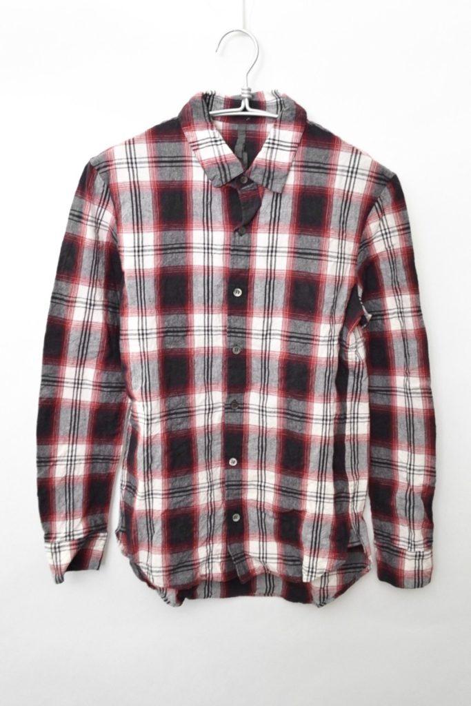 チェックシワ加工 L/Sシャツ