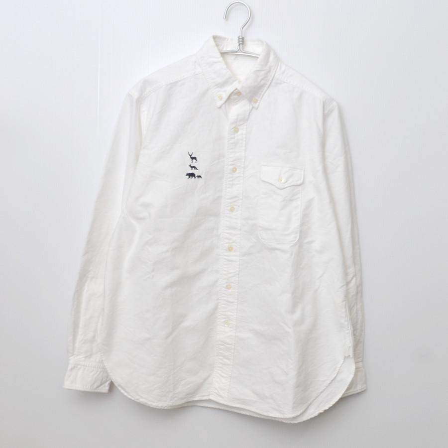 2015AW/ MTR-1924 動物 刺繍 B.D Shirt オックス 長袖 シャツ