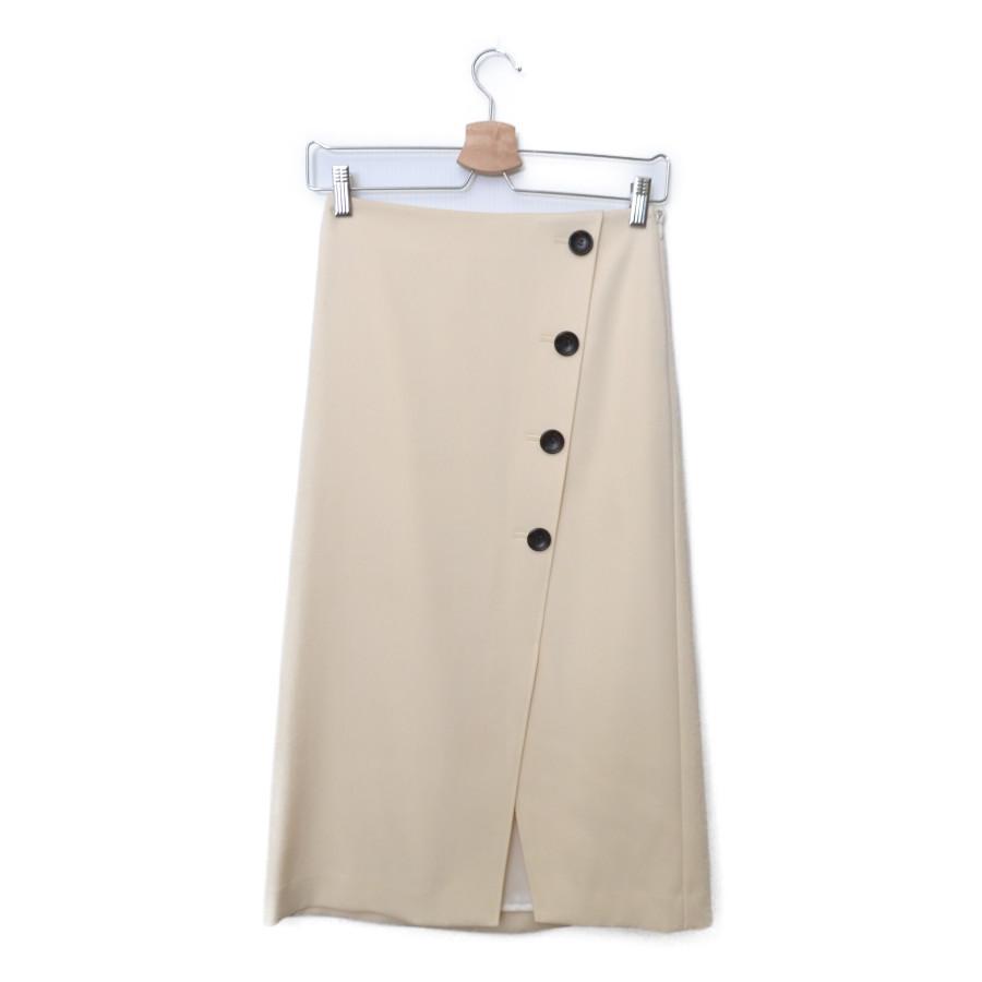 2018AW/ ボタン トラペーズ スカート