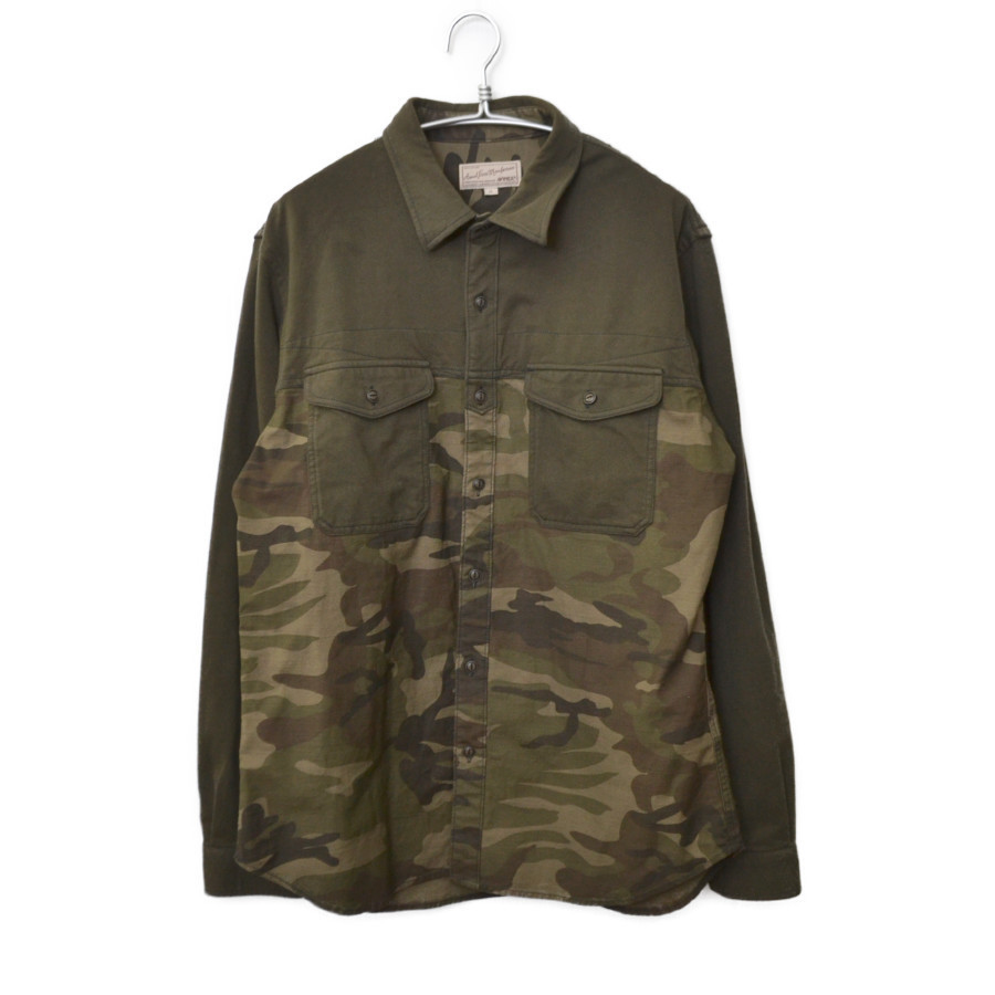 L/S MATERIAL COMBINATION ARMY SHIRT マテリアル コンビネーション アーミー シャツ